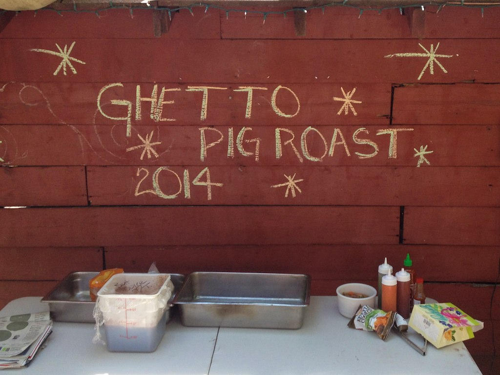 Scenes From The Ghetto Pig Roast 2014